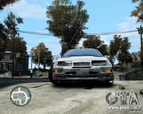 Ford Sierra RS500 Cosworth v1.0 für GTA 4 Rückansicht