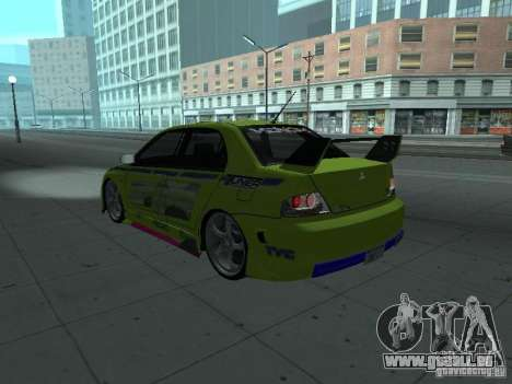 Mitsubishi Lancer Evolution 8 pour GTA San Andreas moteur