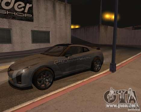 Nissan GT-R Pronto pour GTA San Andreas vue de dessus