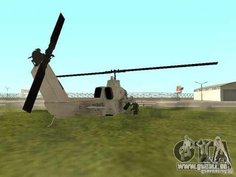 AH-1 Supercobra pour GTA San Andreas sur la vue arrière gauche