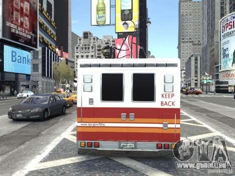 GMC C4500 Ambulance [ELS] pour GTA 4 Vue arrière de la gauche