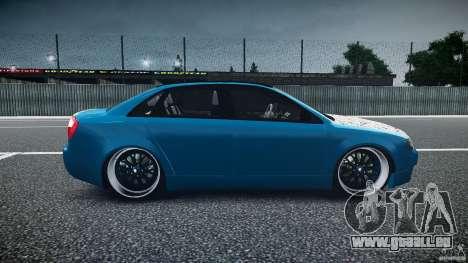 Audi S4 Custom pour GTA 4 est une vue de l'intérieur