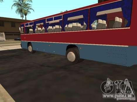 Ikarus 255 für GTA San Andreas zurück linke Ansicht