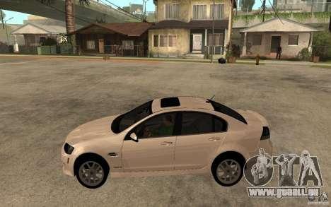Pontiac G8 GXP 2009 pour GTA San Andreas laissé vue