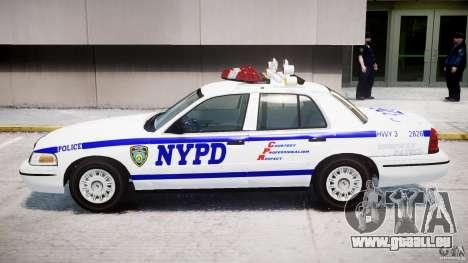 Ford Crown Victoria NYPD pour GTA 4 Vue arrière de la gauche