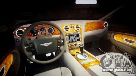Bentley Continental GT v2.0 pour GTA 4 Vue arrière