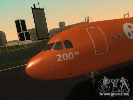 Airbus A320-214 EasyJet 200th Plane für GTA San Andreas Innen