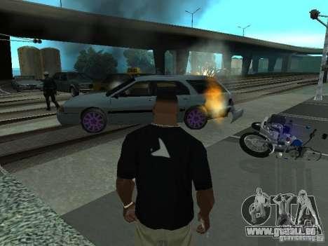 Les machines de projection réaliste pour GTA San Andreas quatrième écran