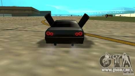 Elegy MIX V.1 pour GTA San Andreas sur la vue arrière gauche