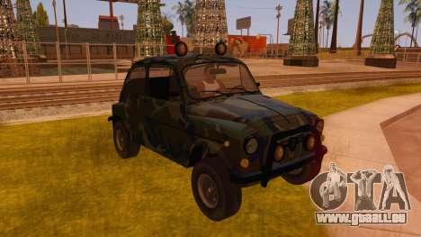 Zastava 750 4x4 Camo pour GTA San Andreas vue arrière