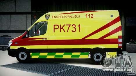 Mercedes-Benz Sprinter PK731 Ambulance [ELS] pour GTA 4 est une gauche