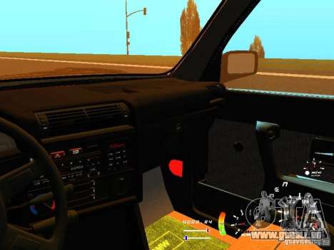 BMW E30 87-91 für GTA San Andreas obere Ansicht