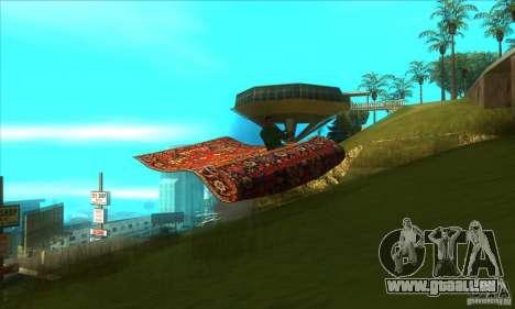 Flying Carpet v.1.1 pour GTA San Andreas vue intérieure