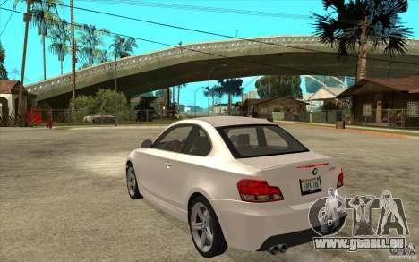 BMW 135i Coupe pour GTA San Andreas vue de droite