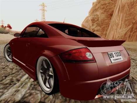 Audi TT pour GTA San Andreas laissé vue