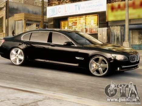 BMW 750 LI 2010 pour GTA 4 Vue arrière de la gauche