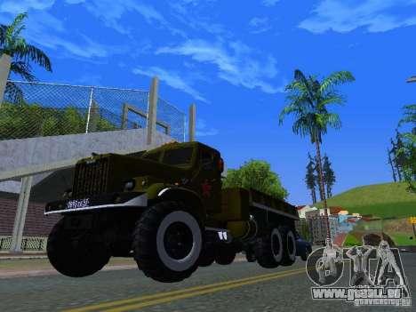 Camion KrAZ Parade pour GTA San Andreas vue intérieure