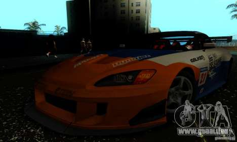 Honda S2000 Tunable pour GTA San Andreas vue de dessus