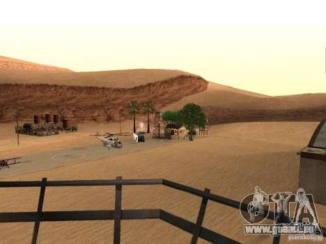 Nouvelles installations de l'aéroport dans le dé pour GTA San Andreas quatrième écran