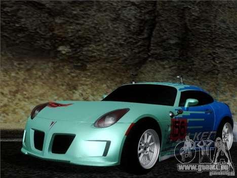 Pontiac Solstice Falken Tire pour GTA San Andreas laissé vue