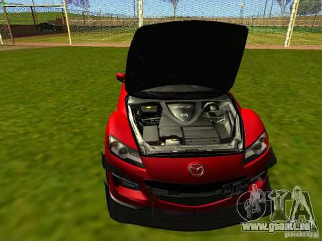 Mazda RX-8 R3 Tuned 2011 pour GTA San Andreas vue intérieure