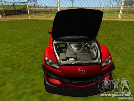 Mazda RX-8 R3 Tuned 2011 für GTA San Andreas Innenansicht