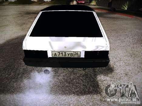 VAZ 2108 Chrome pour GTA San Andreas sur la vue arrière gauche