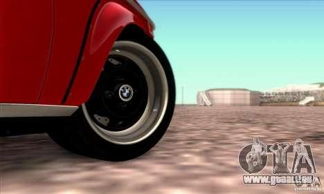 BMW 2002 Turbo pour GTA San Andreas vue de dessous