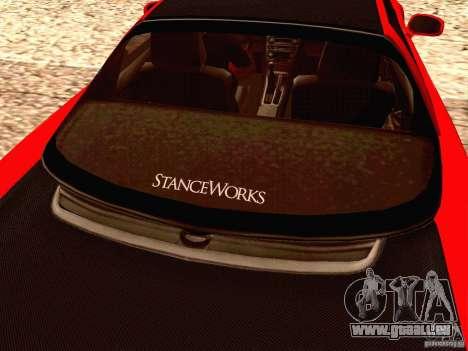 Acura NSX Stance Works für GTA San Andreas Innenansicht