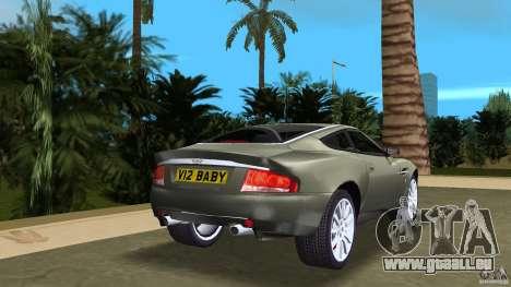 Aston Martin V12 Vanquish 6.0 i V12 48V für GTA Vice City zurück linke Ansicht