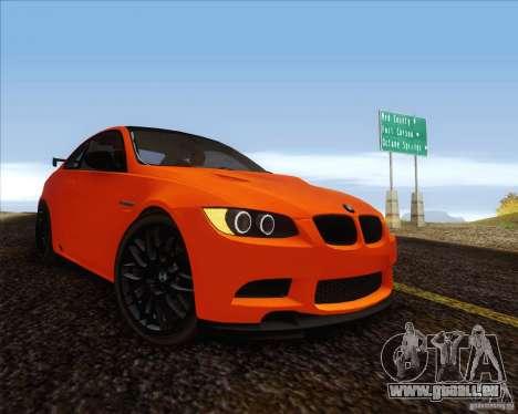 BMW M3 GT-S für GTA San Andreas zurück linke Ansicht