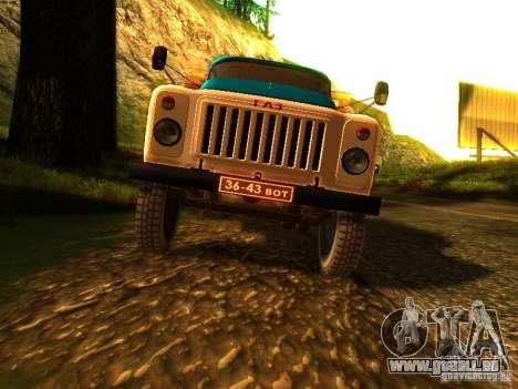 GAZ 53 pour GTA San Andreas vue intérieure