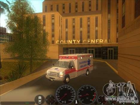 Ford E-350 Ambulance 2 pour GTA San Andreas vue de droite