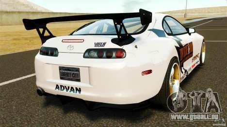 Toyota Supra Top Secret für GTA 4 hinten links Ansicht