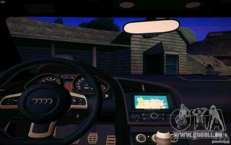 Audi R8 5.2 FSI Quattro pour GTA San Andreas vue arrière