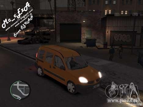 Renault Kangoo 2007 pour GTA 4 est une vue de l'intérieur