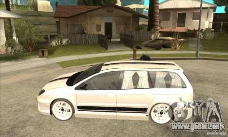 Citroen C5 Break pour GTA San Andreas laissé vue