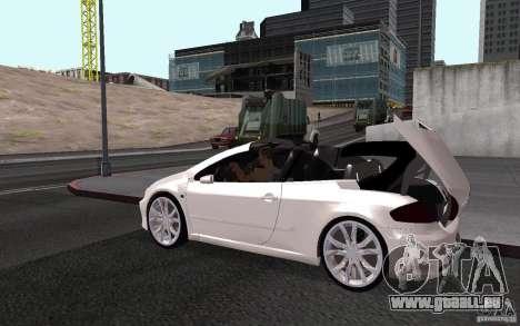 Peugeot 307CC BMS pour GTA San Andreas vue de côté