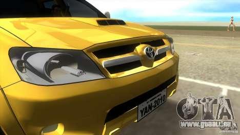 Toyota Hilux SRV 4x4 pour une vue GTA Vice City de la droite