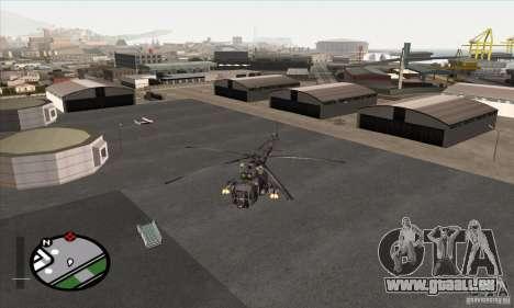 MIL MI-8 grau Camo für GTA San Andreas zurück linke Ansicht