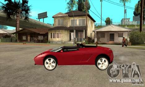 Lamborghini Concept S pour GTA San Andreas laissé vue