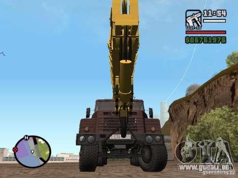 KrAZ-250 MKAT-40 für GTA San Andreas rechten Ansicht