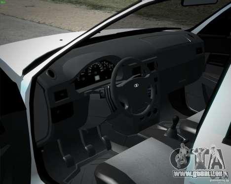 Stock de Lada Priora 2172 pour GTA San Andreas sur la vue arrière gauche