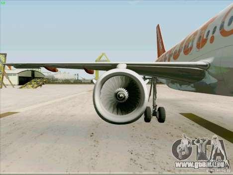 Airbus A319 Easyjet pour GTA San Andreas vue de côté