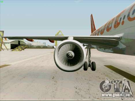 Airbus A319 Easyjet für GTA San Andreas Seitenansicht