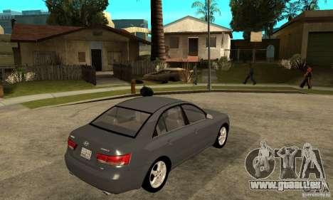 Hyundai Sonata 2008 hd für GTA San Andreas rechten Ansicht