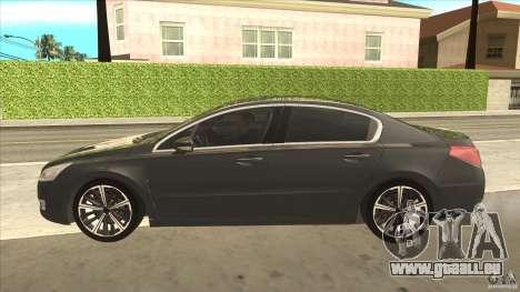 Peugeot 508 2011 EU plates pour GTA San Andreas laissé vue