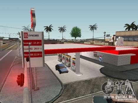 Der Lukoil Tankstelle für GTA San Andreas zweiten Screenshot