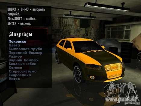 Audi S3 2006 Juiced 2 pour GTA San Andreas vue arrière