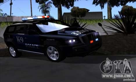 NFS Undercover Police SUV pour GTA San Andreas laissé vue